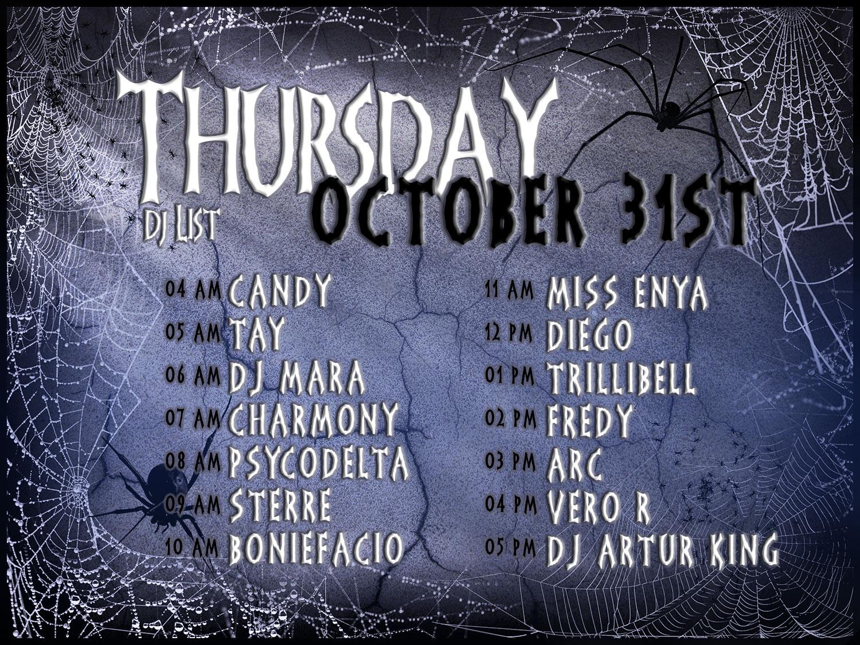 Halloween Fright Night Thursday